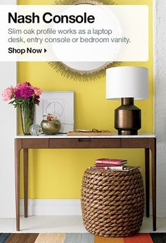 Console Table & Pedestal Table Shopping   Crate and Barrel