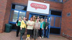 Cobra Bio all dressed in yellow and green for Bring a Pound Day http://www.dougiemacevents.co.uk/
