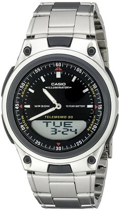 Casio Men's AW80D-1AVCB 10-Year Battery Ana-Digi Bracelet Watch >>> You can find out more details at the link of the image.