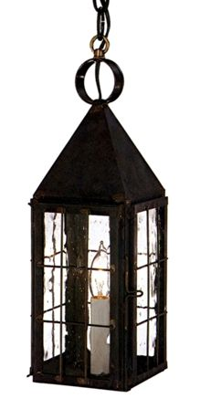 Colonial Williamsburg Pendant Copper Lantern with Seeded Glass Lantern Pendant Lighting, Copper Lantern, Lantern Lamp, Candle Lanterns, Outdoor Hanging Lanterns, Outdoor Sconces, Hanging Lights, Primitive Lighting, Primitive Decor