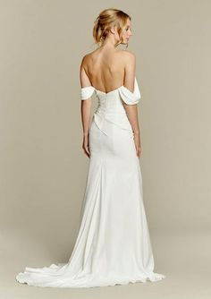 Inspired by the Hayley Paige Ember. Ivory Chiffon modified A-line bridal…