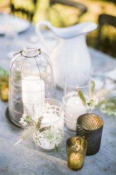 Entertaining: Dinner in the Apple Orchard Candle Centerpieces, Wedding Table Centerpieces, Floral Centerpieces, Wedding Decorations, Table Decorations, Centerpiece Ideas, Best Wedding Blogs, Diy Wedding, Wedding Events