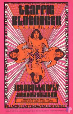 Classic Poster - Traffic at Fillmore East 4/26/68 by David Byrd