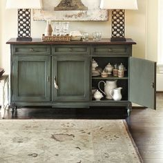 I love this color...will repaint my old buffet like this for sure.