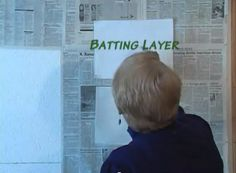 Quilt and Sew Faster!  This YouTube video link on a spray basting wall just may change my quilting life!