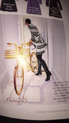 Gold bike in Oprah magazine
