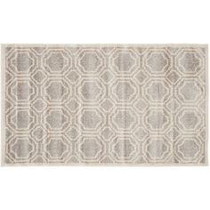 Safavieh Amherst Geometric Indoor Outdoor Rug, Light Grey