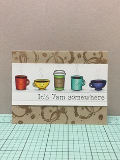 Lawn Fawn - Love You a Latte, Smitty's ABCs, Stitched Borders _ super fun design by Monica via Flickr