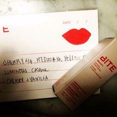 Bite lip lab red / coral lipstick New York