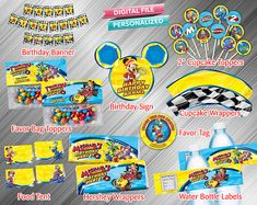 Mickey Roadster Racers Printable Party Package