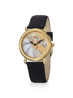 Stuhrling Women's Pirouette Vogue Black/Gold Watch