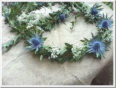 'eucalyptus , le gypsophile et les fleurs de chardon by 1bellehistoire.canalblog.com