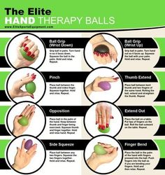 Elite Hand Grip Strengthener With Bonus Hand Therapy Egg Shaped Exercise Balls