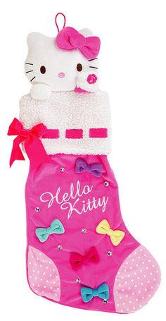 Pink Musical Hello Kitty Christmas Stocking #HelloKittyChristmas #ChristmasStocking