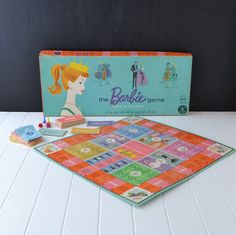 Vintage Barbie Board Game  I used to play this as a little girl. I'd love to have this again!!!