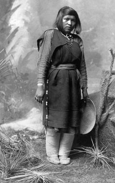 Beautiful Isleta Pueblo woman. Photographed between 1880 and 1900.
