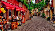 Beautiful Side Street In Germany HD wallpapers