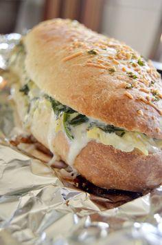 Spinach Artichoke Dip Bread. Slice and devour!