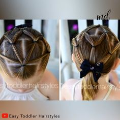 Beautiful hairstyle for girls By: Toddler Hairstyles Best Picture For baby girl hairstyles wit Toddler Hair Dos, Easy Toddler Hairstyles, Easy Little Girl Hairstyles, Girls Hairdos, Baby Girl Hairstyles, Diy Hairstyles, Kids Hairstyle, Female Hairstyles, Hairstyle For Baby Girl