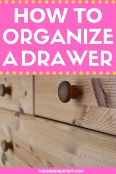 Is organizing drawers in your home on your list of to-dos? This practical tutorial will show you step-by-step how to organize any drawer in your home or office. Organizing Drawers, Office Organization At Work, Organizing Your Home, Organization Hacks, Organization Ideas, Storage Ideas, Getting Organized At Home, Getting Rid Of Clutter, Room Cleaning Tips