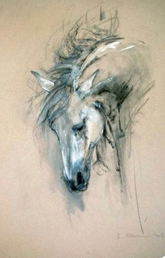 Equestrian art, bull paintings, modern abstract originals and prints for sale. Limited edition giclee prints and originals of horses and bulls in mixed media. Horse Drawings, Animal Drawings, Art Drawings, Abstract Drawings, Bull Painting, Painting & Drawing, Horse Sketch, Art Aquarelle, Horse Artwork