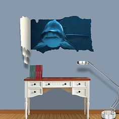 3D Wall Stickers Wall Decals, Jaws Decor Vinyl Wall Stickers – CAD $ 45.86