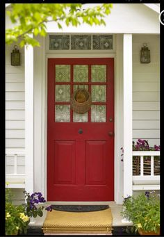 ONE: Clear clutter from your yard, pathway and front porch to allow energy to flow into your home.  TWO: Re-paint your front door a bright, cheerful color.  Red is the feng shui color for prosperity and abundance. Green is the color of nature and money.  THREE: Place a tall, healthy plant on either side of your front door. They should not block the entrance.  FOUR: Hang white lights around your front porch to attract attention to golden opportunities.