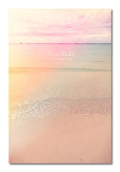 Dreamy Beach Fancy Sea Beach Photography Pastel by VinnStudio