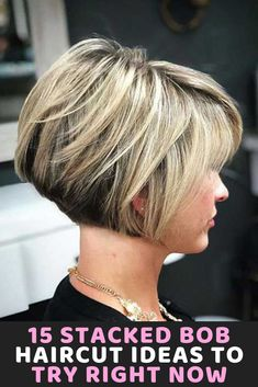 15 Stacked Bob Haircut Ideas To Try Right Now Hair Styles 2020 15 gestapelte Bob-Haarschnitt-Ideen, Bobbed Hairstyles With Fringe, Bob Hairstyles For Round Face, Bob Hairstyles For Fine Hair, Layered Bob Hairstyles, Hairstyles Videos, Celebrity Hairstyles, Womens Bob Hairstyles, Wedding Hairstyles, Dread Hairstyles