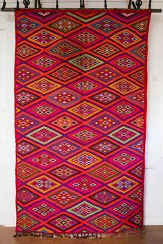 Moroccan Kilim Carpet from the M.Montague Souk.  Moroccan design.
