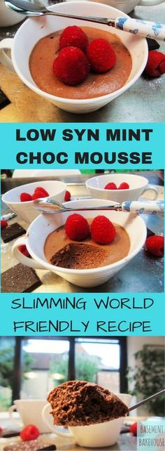 Low Syn Mint Chocolate Mousse - Slimming World - Dessert - Slimming World Pudding - Pudding - astuce recette minceur girl world world recipes world snacks Slimming World Deserts, Slimming World Puddings, Slimming World Tips, Slimming World Recipes Syn Free, Slimming Eats, Healthy Treats, Healthy Desserts, Low Syn Treats, Healthy Puddings