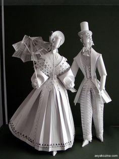 Historical costumes by Asya Kozina