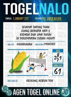Bolak Balik 3D Togel Wap Online Live Draw 4D TogelNalo Palangkaraya 1 Januari 2017