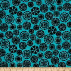 Origins Silhouette Turquoise from @fabricdotcom  Designed by Jennifer Young for Benartex, this cotton print fabric features abstract snowflakes that will make you want to play in the snow, even if only for a minute. Perfect for quilting, apparel and home decor accents. Colors include aqua and black.