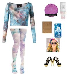 """""""Unicorns and Rainbows"""" by kylamckay1210 ❤ liked on Polyvore featuring Skinbiquini, Mr. Gugu & Miss Go, Dogeared, Walter Steiger, Irregular Choice, women's clothing, women, female, woman and misses"""