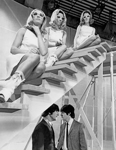 Lennon / McCartney. With girls on top.