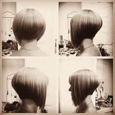 perfectly cut #stackedbob #stackedbobs #ilovebobs #hair #haircuts #bobcut #haircuts #shortbobstyle #brunette #angledbob #asymetricalcut #asymetricalhair Created by @nataliakop