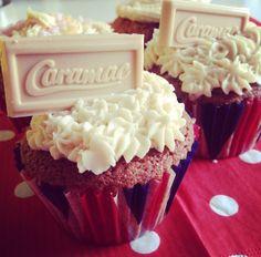 Retro caramac cupcakes