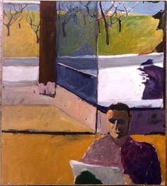 unknown Richard Diebenkorn -artist use of geometry Richard Diebenkorn, Figure Painting, Figure Drawing, Painting & Drawing, Painter Artist, Artist Art, Camille Pissarro, Robert Motherwell, Bay Area Figurative Movement
