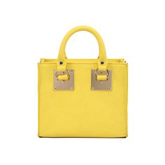 AITBAGS Ladies Fashion Light Candy Color Yellow Leather Tote Bags Small