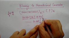 Binary to hexadecimal conversion