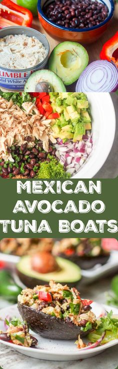 Skip the heavy mayo and make Mexican tuna salad with avocado instead. 10 ingredients and tons of flavor. A perfect quick lunch or weeknight dinner. Gluten Free and Dairy Free. Ready in 20 mins with 30g of protein per serving! Low carb |avocadopesto.com #OnlyAlbacore #CG #BumbleBeeTuna {ad}