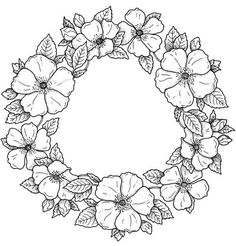 Anzac Day coloring page with a picture of a poppy wreath