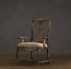 18th C. Swedish Rococo Burlap Chair Restoration Hardware.  Want this for a desk chair! Love!