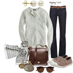 """Grey & Taupe"" by taytay-268 on Polyvore"
