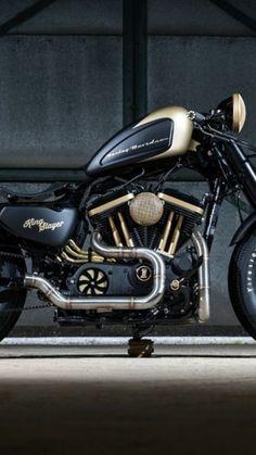 Custom Street Bikes, Custom Bikes, Motorised Bike, Harley Davidson Sportster, Road King, Classic Trucks, Cool Bikes, Cars And Motorcycles, Motorbikes