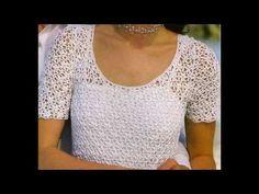 Como Tejer vestido puntada calada a ganchillo - YouTube