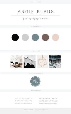 Brand reveal for Angie Klaus | Branding | Brand Board | Logo Design | Graphic Design | Design Inspiration | Logo Ideas | Brand Ideas | Website Design | Color Palette | August and White