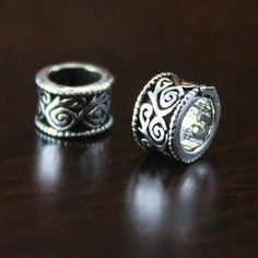 925 sterling silver Thai silver 6-mm Spacer Beads