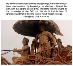 Bhagavad Gita 4.41-4.42 Shree Krishna, Radhe Krishna, Lord Krishna, Saints Of India, Geeta Quotes, Soul Songs, Lord Shiva Family, Life Guide, Bhagavad Gita